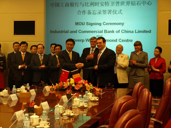 Antwerp trade signs deal with China's ICBC
