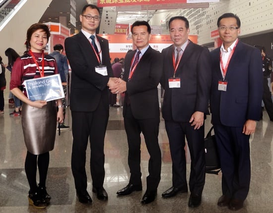 TGJTA promotes Thailand Gems and Jewelry Fair 2016 in China