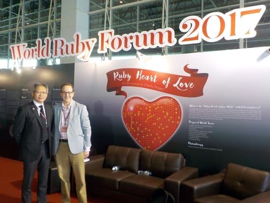 Ruby Heart of Love campaign, at Bangkok Gems & Jewelry Fair