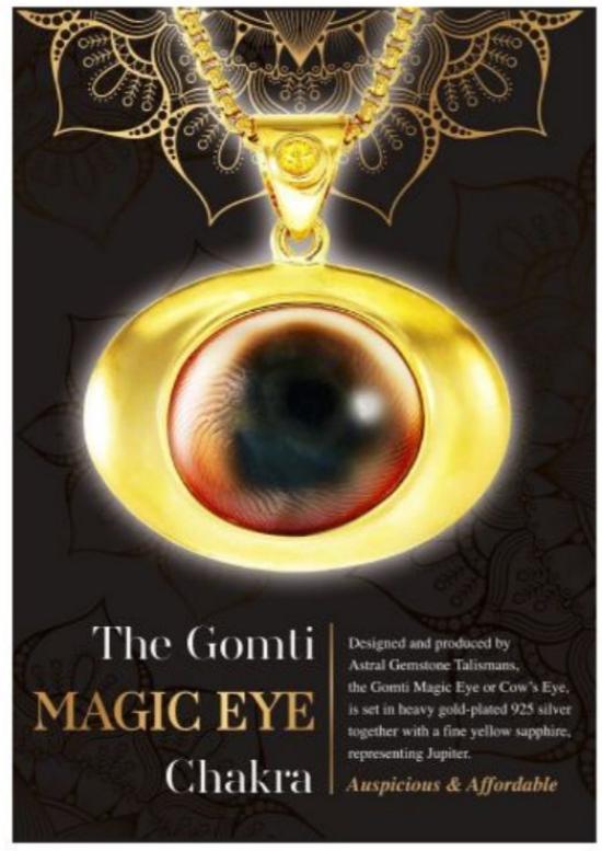 Gomti 'Magic Eye' Chakra necklace