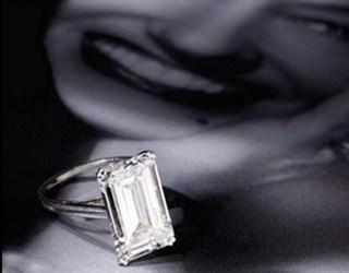 Christie's, rectangular-cut diamond ring, Gloria Swanson,  Hollywood