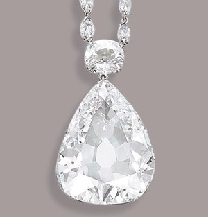 pear-shaped diamond, Golconda mines, India, Jean-Marc Lunel, Head of the Jewellery Department, Christie's Geneva