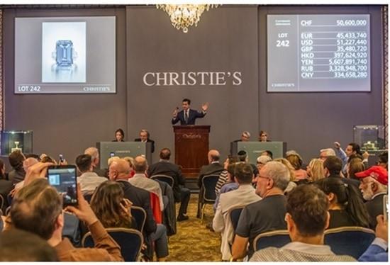 Christie's Oppenheimer Blue diamond sale