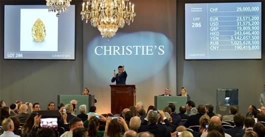 Orange diamond sets record price at Christie's auction
