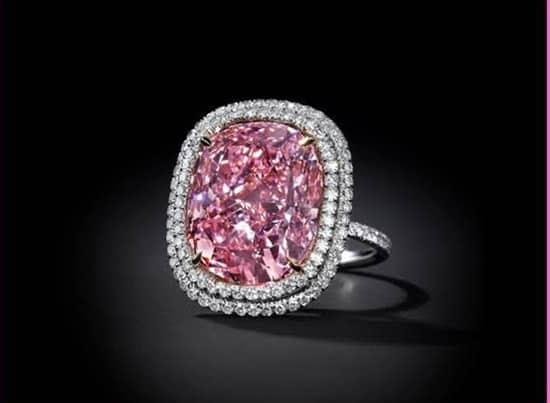Christie's cushion-shaped vivid pink diamond