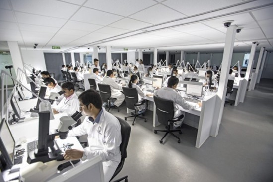 Laboratory picture from De Beers Group Industry Services