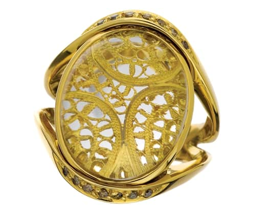 Gold filigree is at the heart of ELEUTERIO Fine Jewels