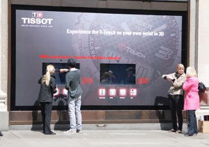 Holition, watch brand Tissot, Touch collection, Oxford Street