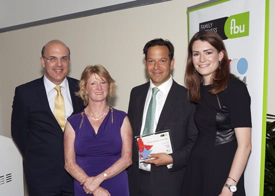 Holts London celebrate win at 2014 Family Business Awards