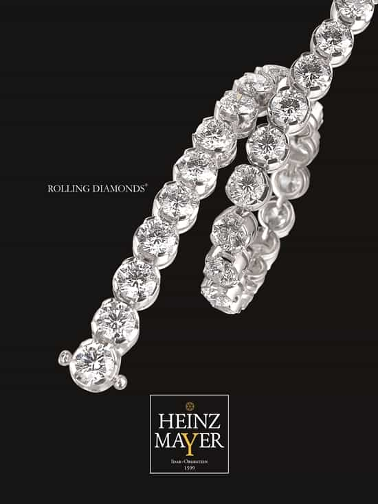 Heinz Mayer to present Rolling Diamonds bracelet collection at Jewellery & Watch London