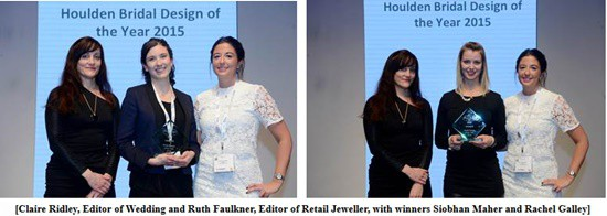 Siobhan Maher and Rachel Galley are winners of Houlden Bridal Design of the Year