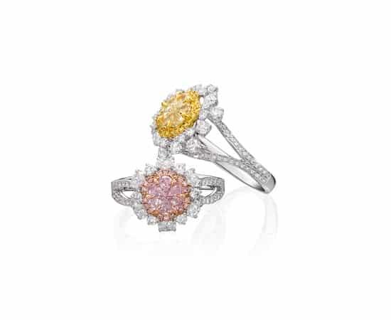 Aspire Designs to present fabulous Kahn fancy colour diamond rings at JCK