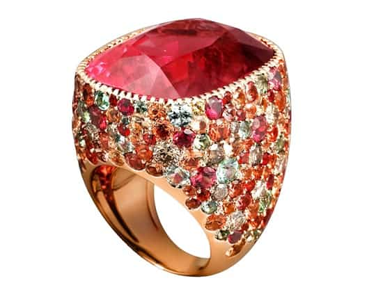 Lorenz Baumer, at Place Vendome showroom, focuses on extraordinary colour gem jewels
