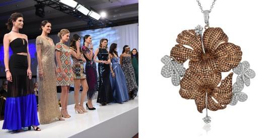 Le VianChocolate Diamonds®Hibiscus pendant, 2019