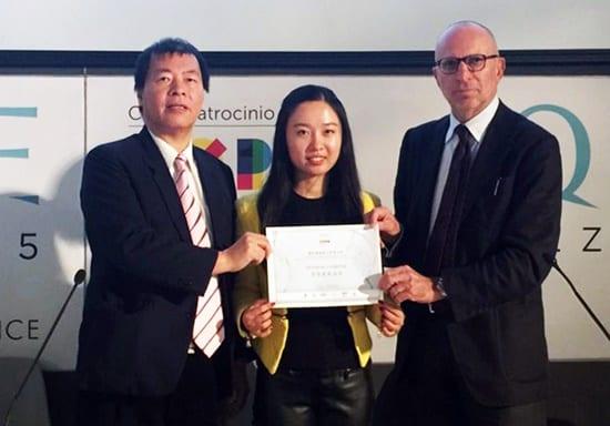 Isabella Liu wins Gold Awards at AQUAE Venice, EXPO MILAN 2015
