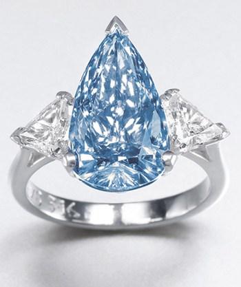 Millennium Jewel Fancy Vivid Blue Diamond Ring