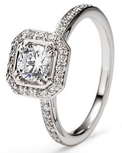 Pure Jewels, Platinum, white gold, palladium engagement  and wedding rings, diamond set platinum and white gold, London
