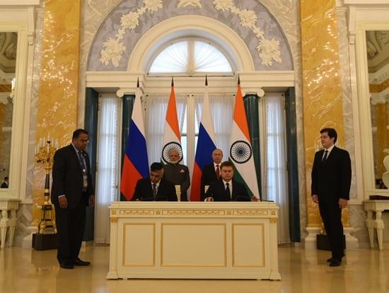 Hon'ble Shri Narendra Modi and Russia's President Mr. Vladimir Putin