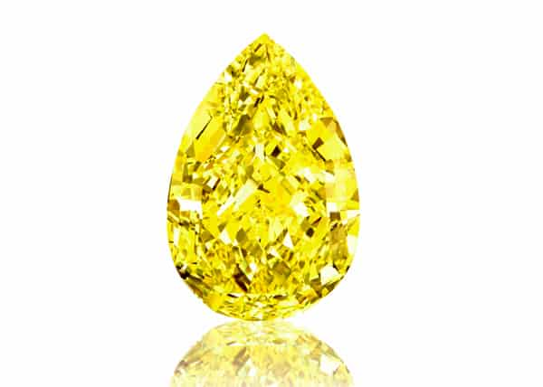 Sotheby's sets world record for yellow diamond at auction