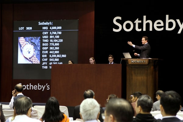 Sotheby's reports most valuable watches sale