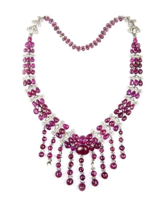 S.J. Phillips presents extraordinary rubies and diamonds necklace at TEFAF Maastricht