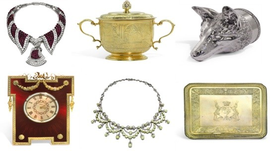 Silverware, jewels from S.J. Phillips to be offered for sale at Sotheby's