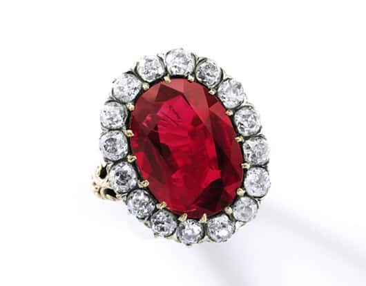 """Sotheby's Geneva to auction """"The Queen Maria-José Ruby Ring"""""""