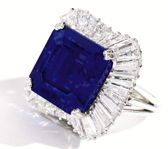 Sapphire sells for world auction record price per carat