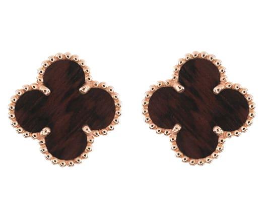 Van Cleef & Arpels present Vintage Alhambra collections in letterwood