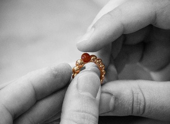 Van Cleef and Arpels' Perlée rings take on dazzling hues