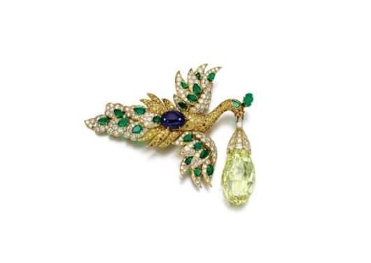 "Sotheby's to offer The ""Walska Briolette Diamond"" brooch"