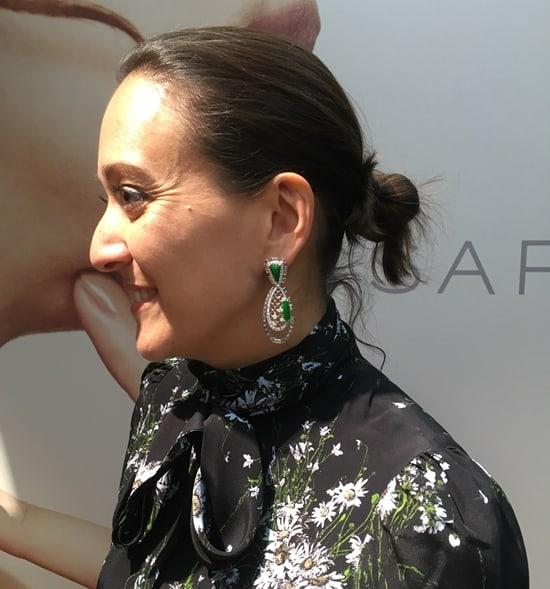Jewellery News,Sarah Ho wearing her jewellery at VicenzaOro