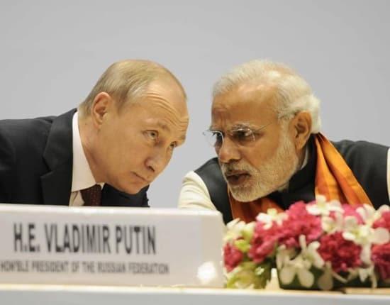 Indian PM Narendra Modi and Russian President Vladimir Putin