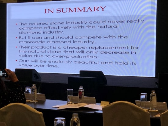Consultant Bill Boyajian urges colored gem sector to compete with manmade diamonds