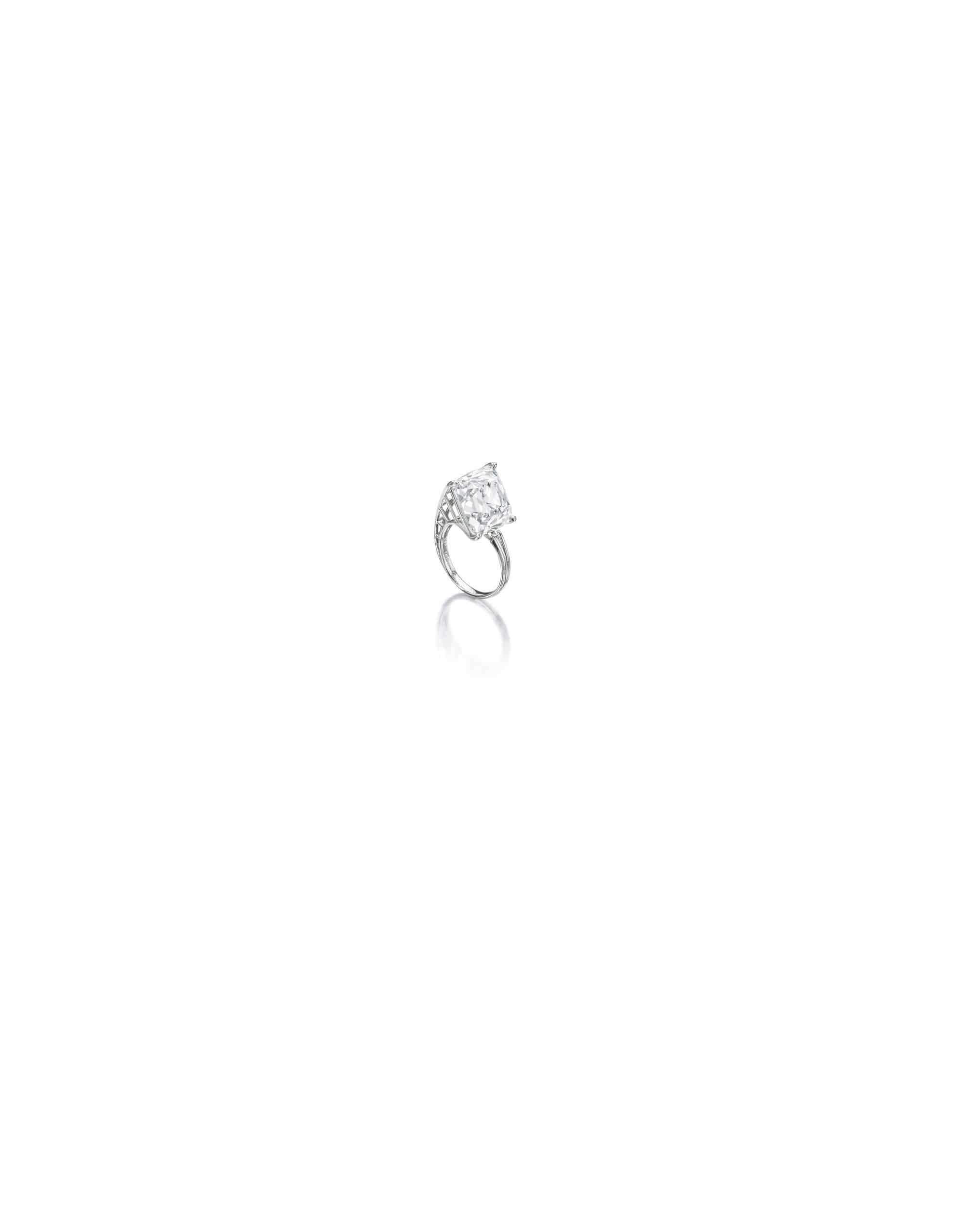 An old-mine cut diamond ring