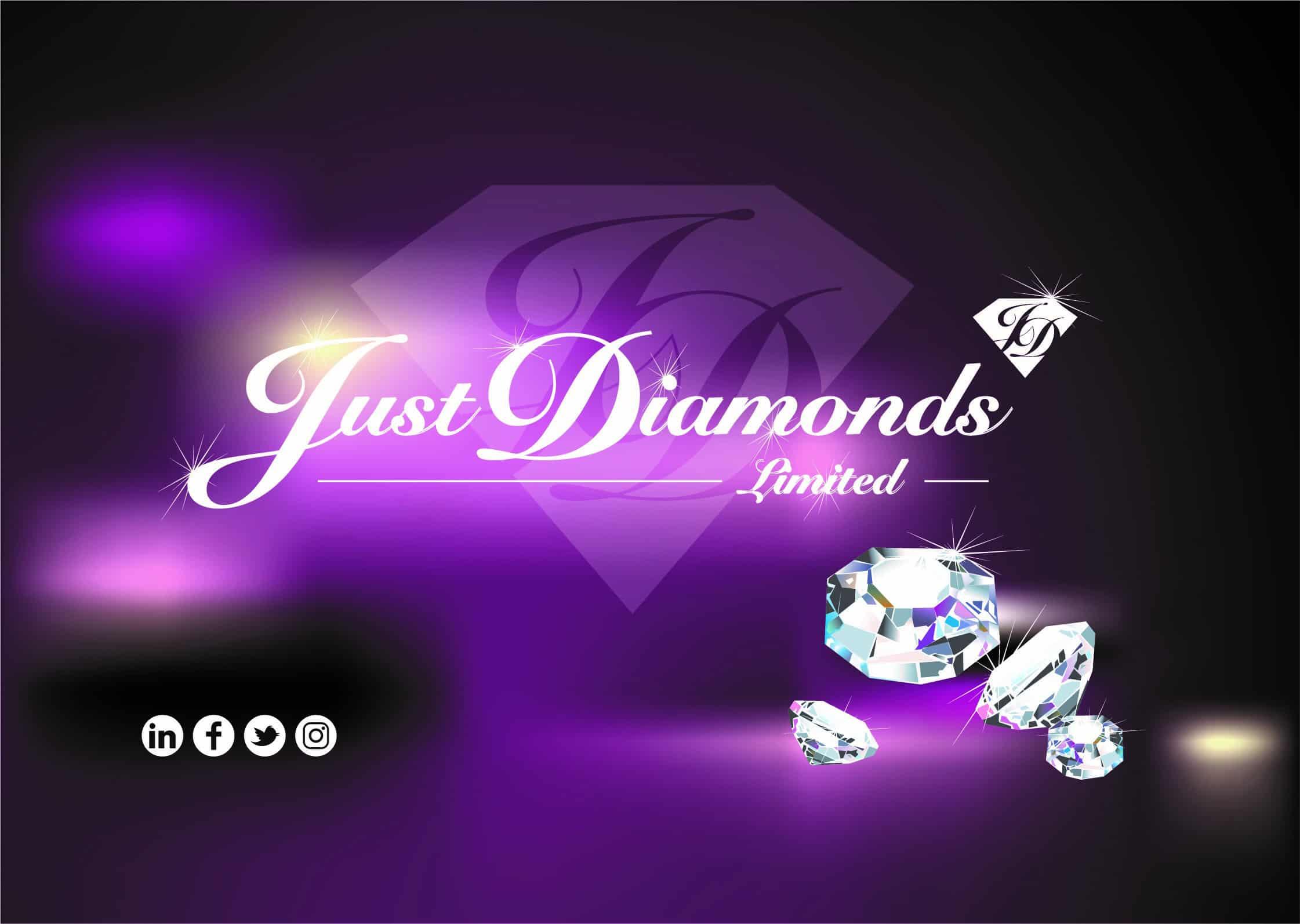 Just Diamonds business card