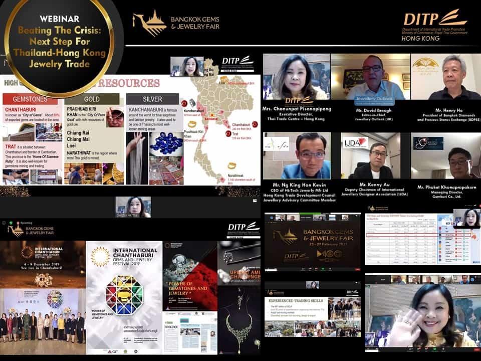 WEBINAR – Digital advances will drive future Thai-Hong Kong gemstone, jewellery trade