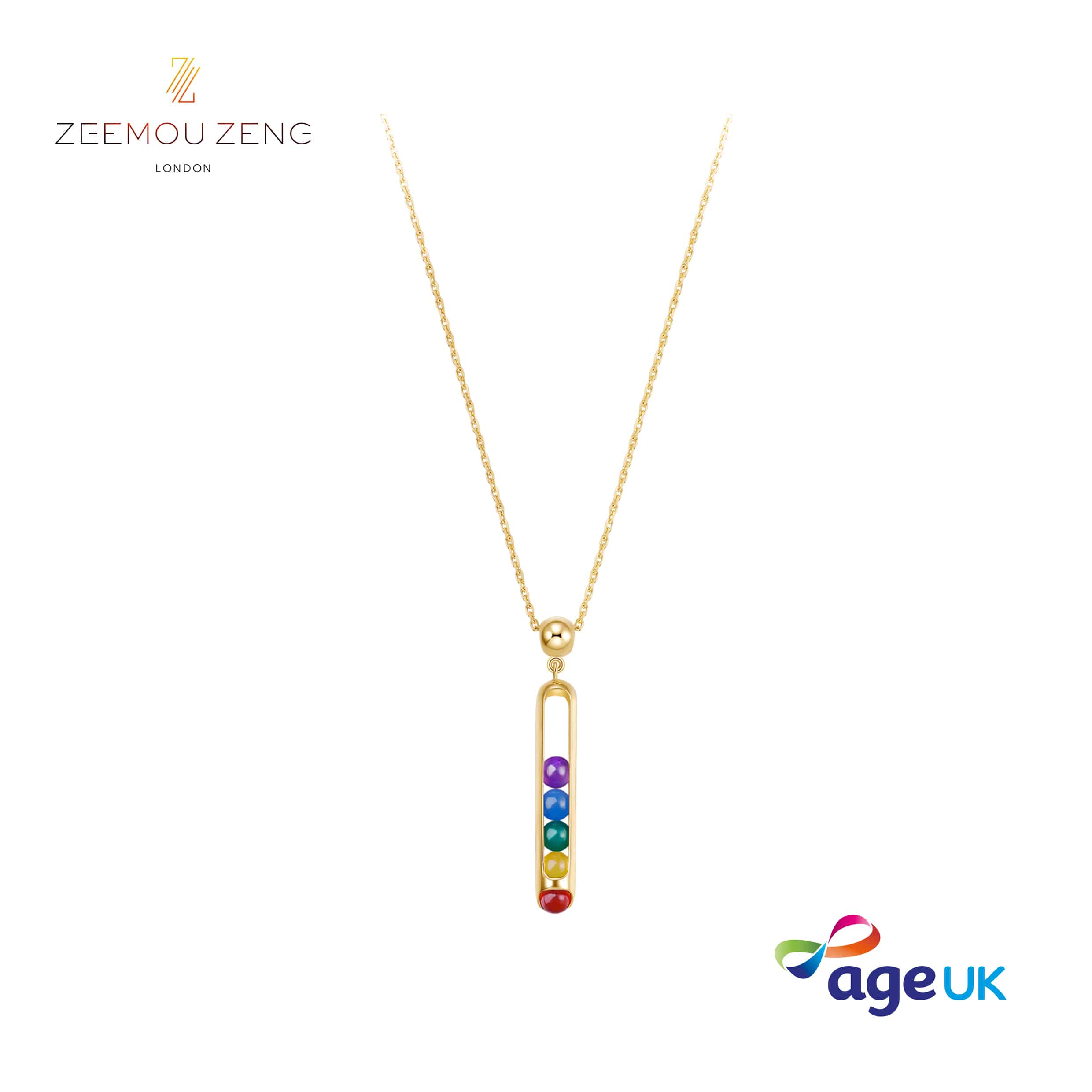 Zeemou Zeng creates limited edition Melody Rainbow necklace to support Age UK appeal