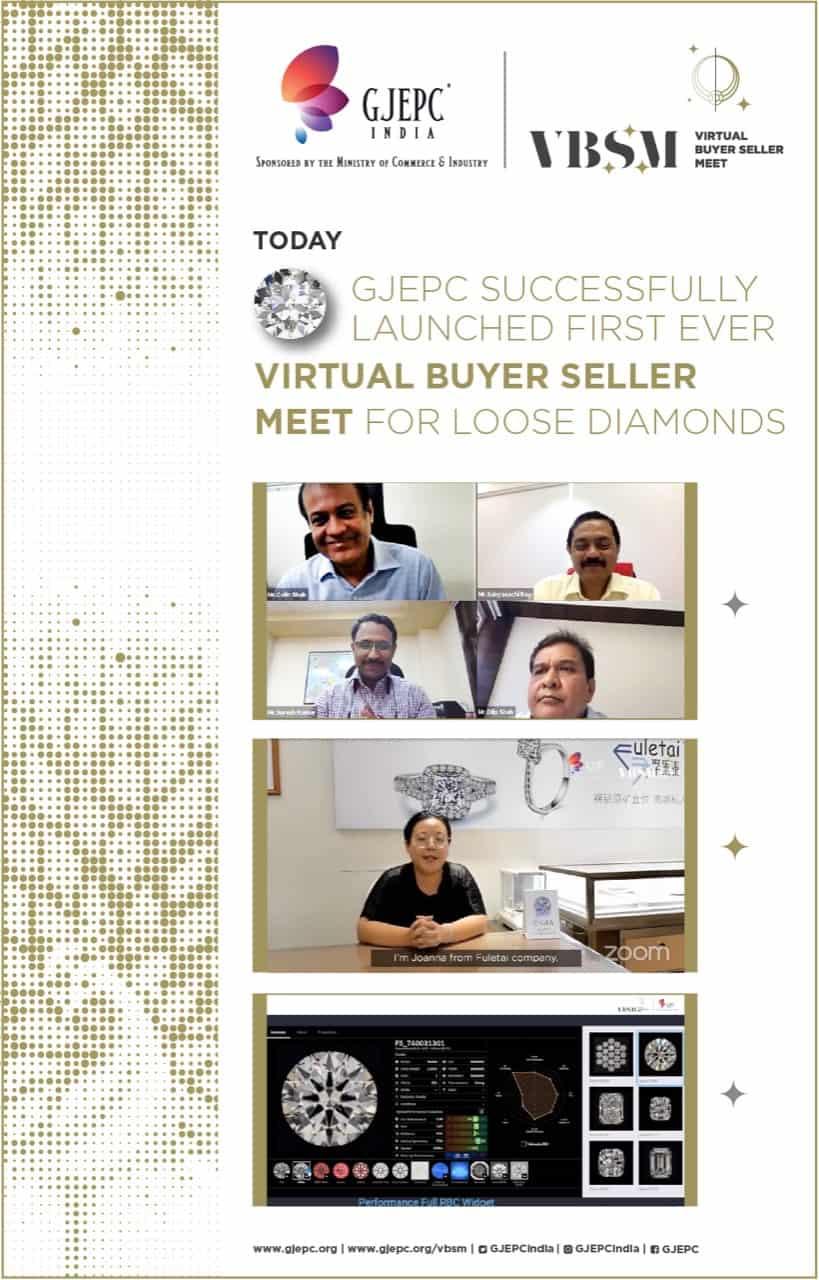 First Virtual Buyer Seller Meeting organised by GJEPC begins