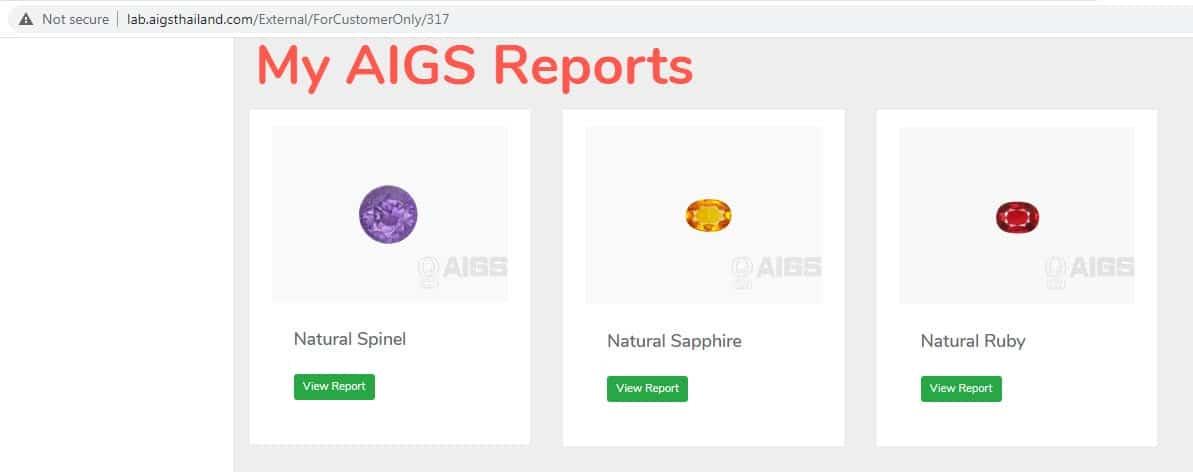 AIGS Launches Gem Report Memo Program