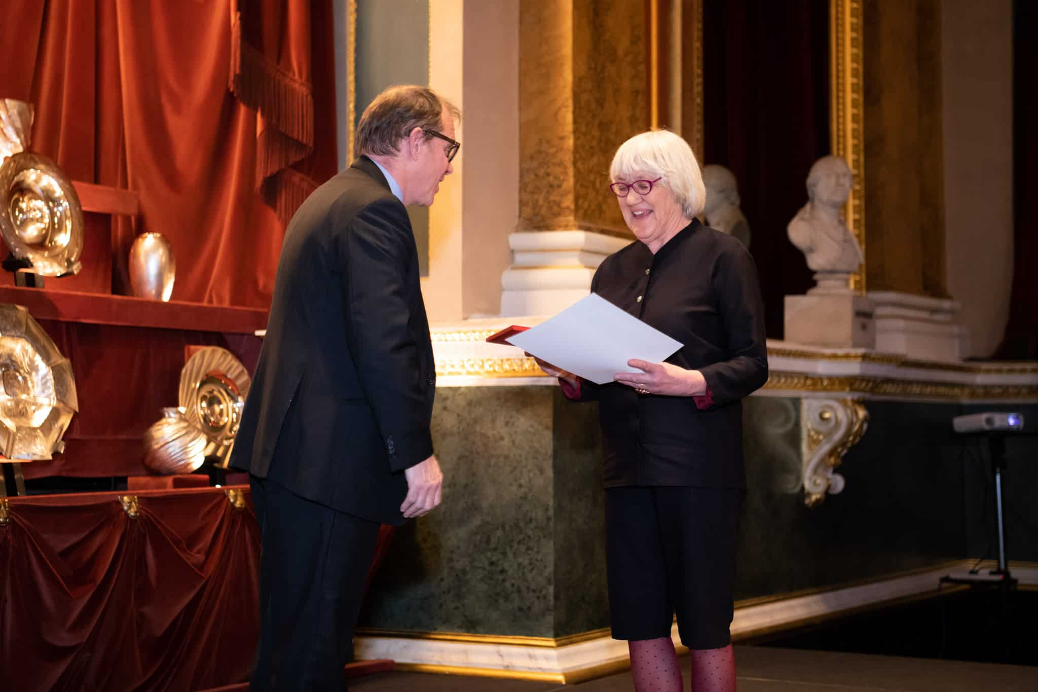 Charlotte de Syllas receives Lifetime Achievement Award from sponsor