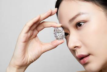 102.39-carat D colour flawless oval diamond, auctioned without reserve, sells for US$ 16 million
