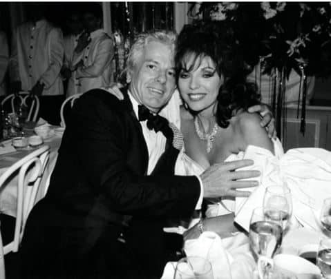 Dame Joan Collins,with Nicky Haslam