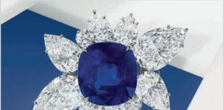 KASHMIR SAPPHIREAND DIAMOND BRACELET