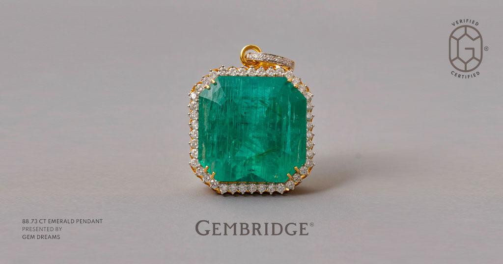 UPCOMING INSTA LIVE – Gembridge presents magnificent 88.73-carat Octagon-shaped Russian Emerald