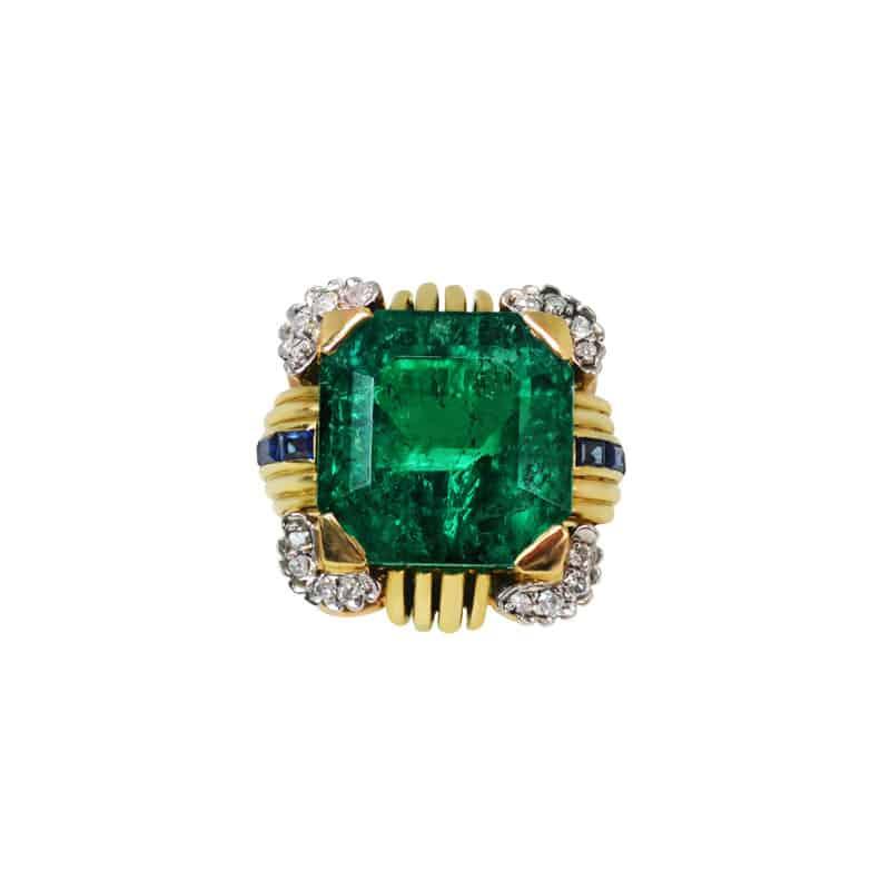 10.37-ct vintage emerald ring