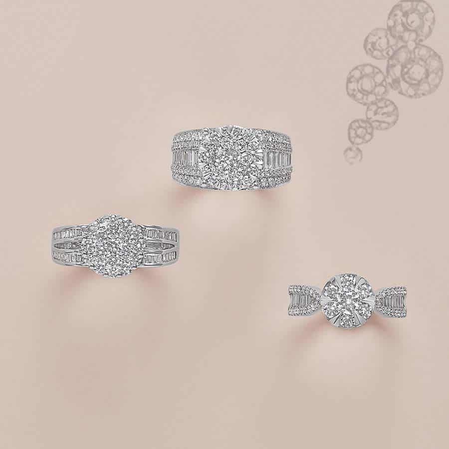 LaMarquise Classic wight diamond collection