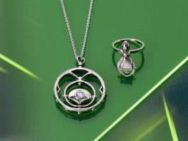 Kristina's necklace and ring