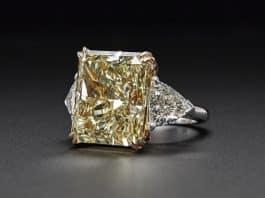 FANCY YELLOW DIAMOND RING OF 23.58 CARATS