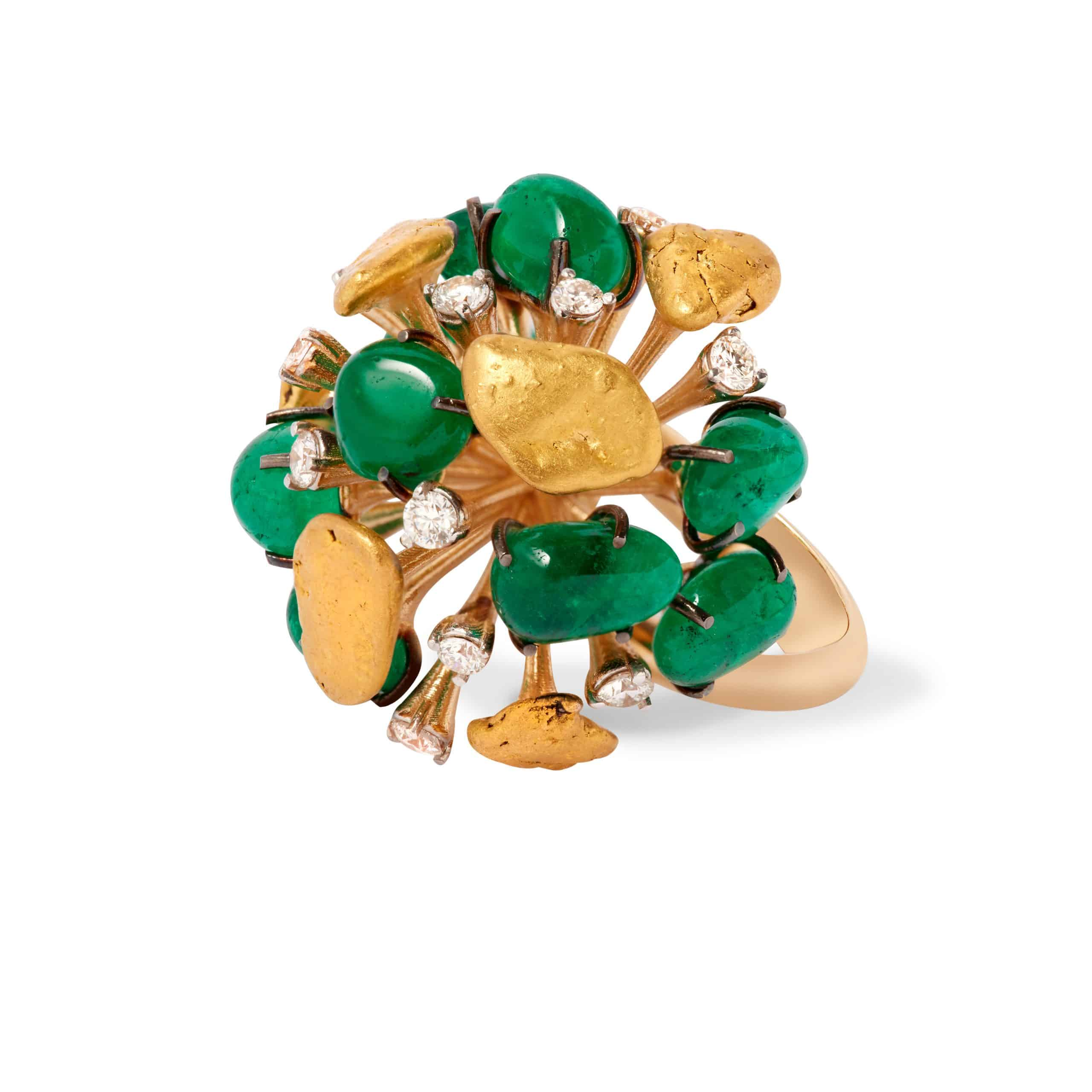 emerald ring by MAKAL